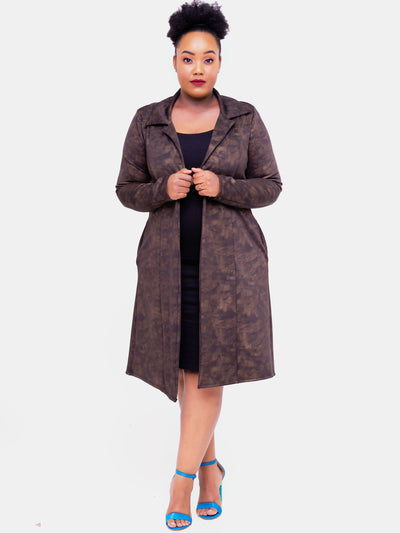 Vivo Naila Trench Coat - Brown