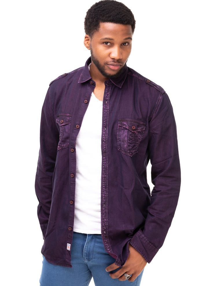 City Walk Gents' Shirt - Purple