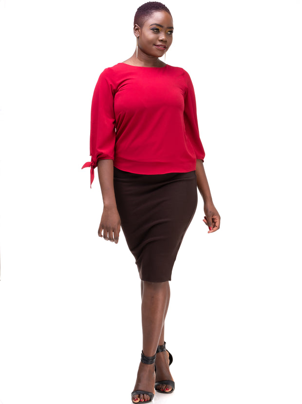Vivo Tolani Double Layered Skirt - Chocolate