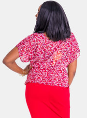 Vivo Val Chiffon Top - Red Print