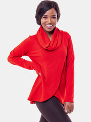 Vivo Tulip Sweater - Red - Shop Zetu