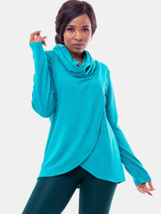Vivo Tulip Sweater - Sea Green - Shop Zetu