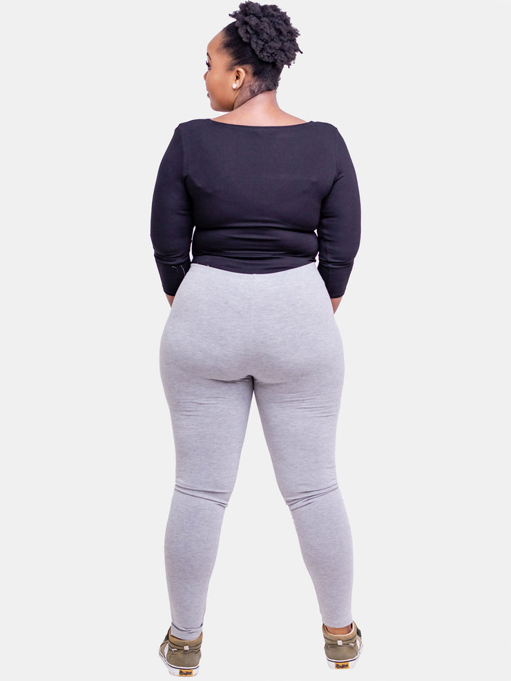 Vivo Full Length Leggings -  Light Grey