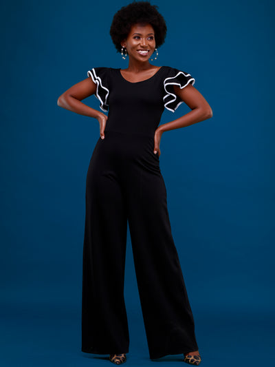 Vivo Iman Jumpsuit - Black / White