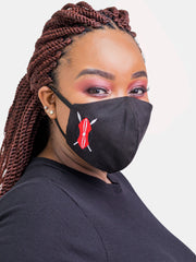 Kenya Zetu 3-Ply Mask - Black