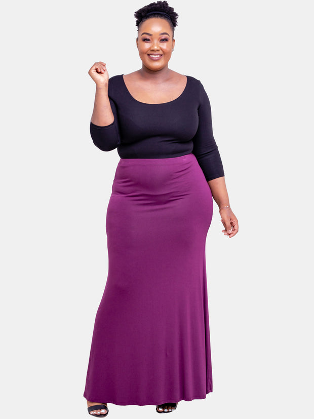 Vivo A Line Maxi Skirt - Purple