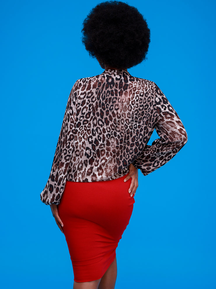 Safari Talek Lap - Over Top - Brown Animal Print