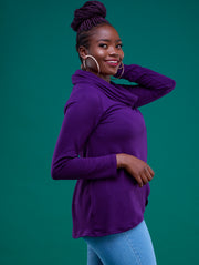 Sowairina Lea Tulip Sweater - Purple