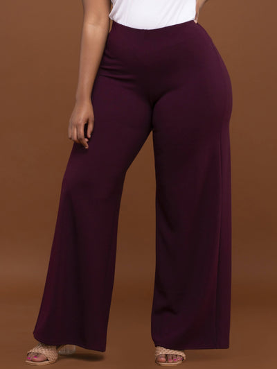 Vivo Dua Wide Leg Pants - Raspberry