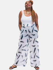 Vivo Tiwi Pants - White Print