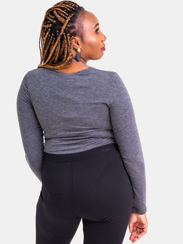 Vivo Basic Long Sleeved Bodysuit - Grey