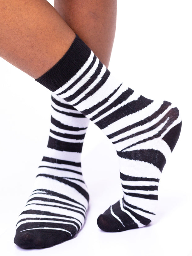 Afrokiks Zebby Socks - Black/White