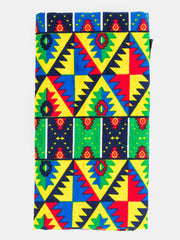 Nywele Chronicles Dada Wrap - Blue & Green Print