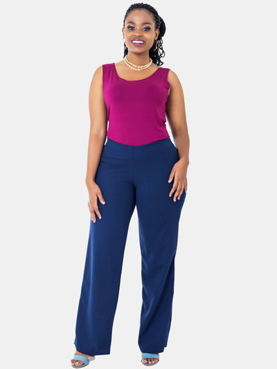 Vivo Escape Wide Leg Pants - Navy Blue