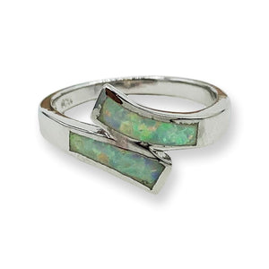 Opal Wrap Sterling Silver Ring