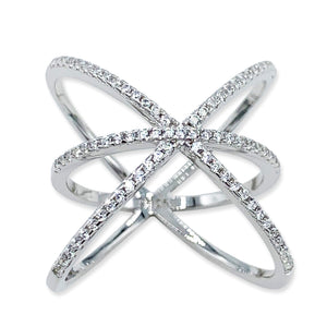 Astronomical Cubic Zirconia Sterling Silver Ring