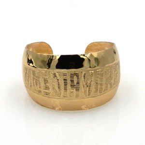 Rose Gold Wide Cuff Bangle
