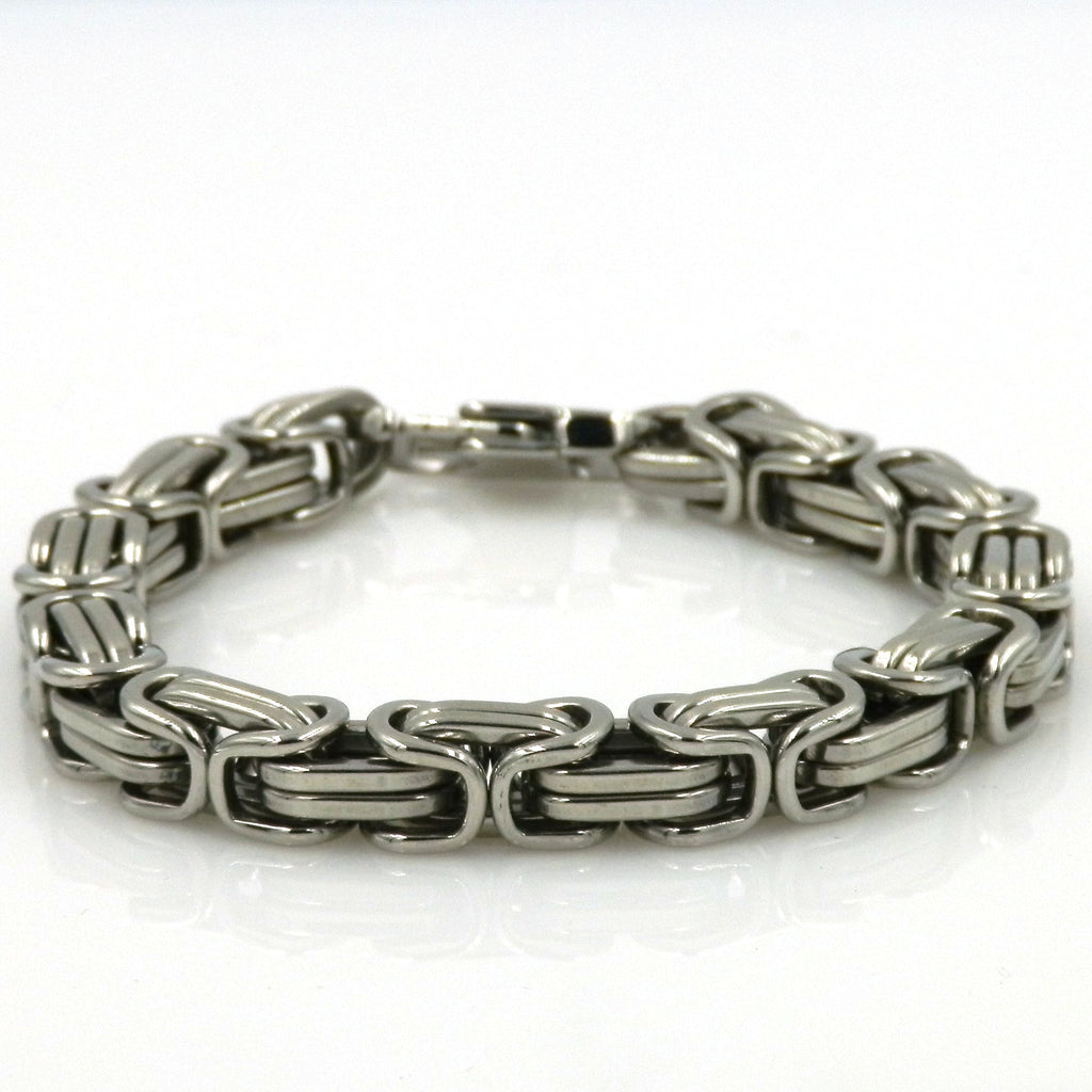 Stainless Steel Double Anchor Links Bracelet