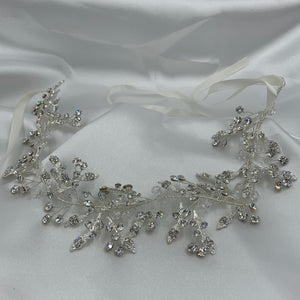 Crystal Leafy Bridal Hairband