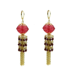 Lantern Tassel Earrings