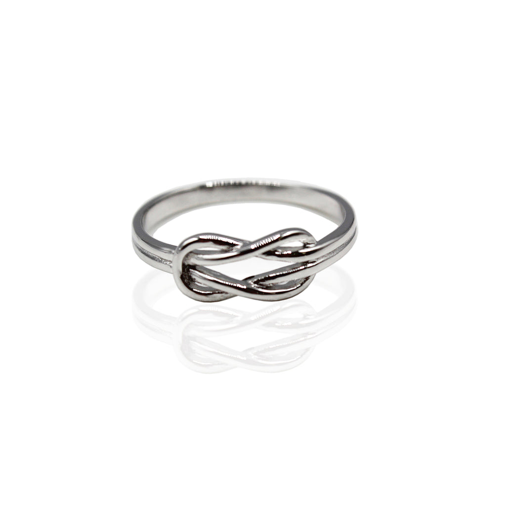 Plain Infinity Knot Sterling Silver Ring