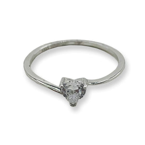 0.5ct Danity Heart Swirl CZ Sterling Silver Ring