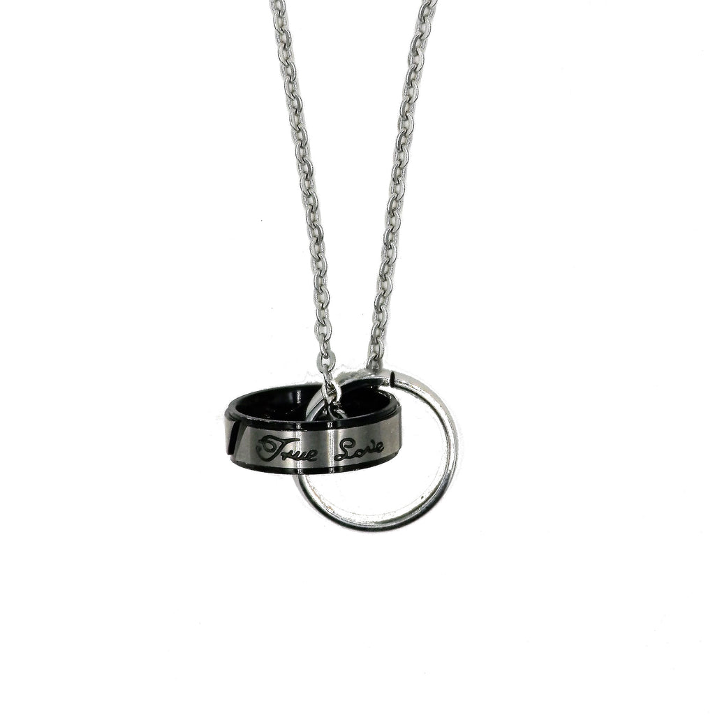 Stainless Steel Double Circle Necklace