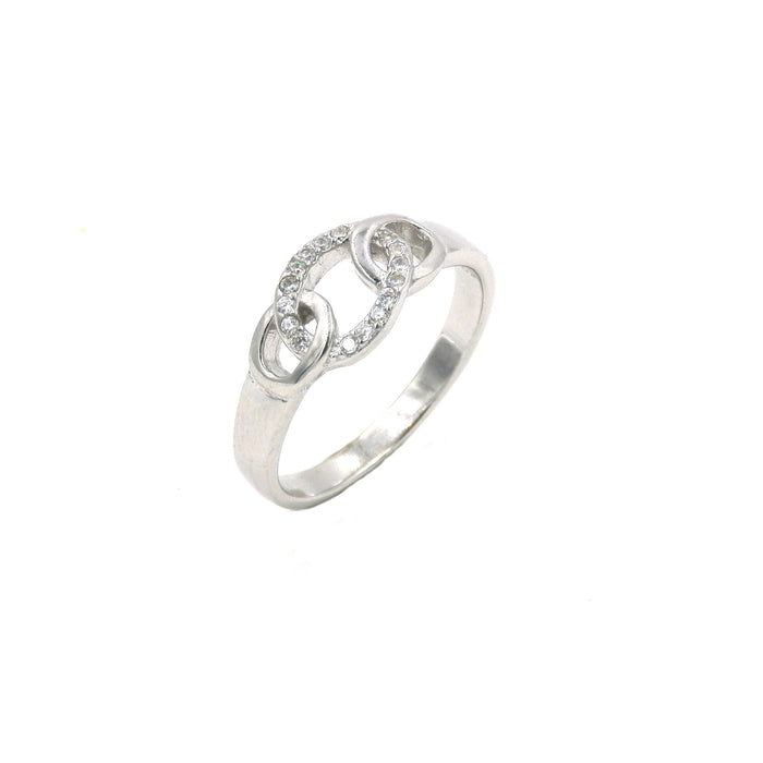 Sterling Silver Olympics Rings Inspired CZ Ring