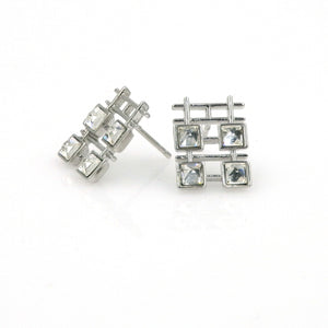 Swarvoksi Element Double Happiness Stud Earrings