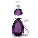 Colorful Sitting Cat( kitty) Sterling Silver 925 with Swarovski Crystals