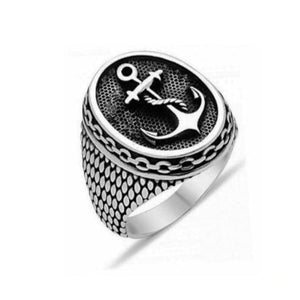 Vintage Anchor Stainless Steel Ring