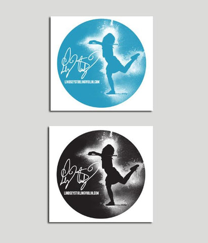 Lindsey Stirling Silhouette Sticker