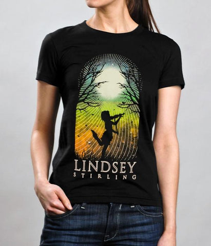 Lindsey Stirling Silhouette 2015 Tour Womens Shirt