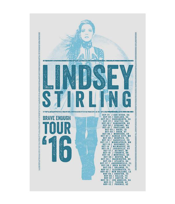 Lindsey Stirling Brave Enough 2016 Tour Poster