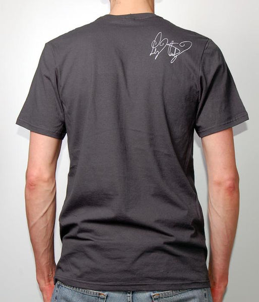 "Lindsey Stirling ""LS"" Silhouette V-Neck Shirt (Charcoal)"