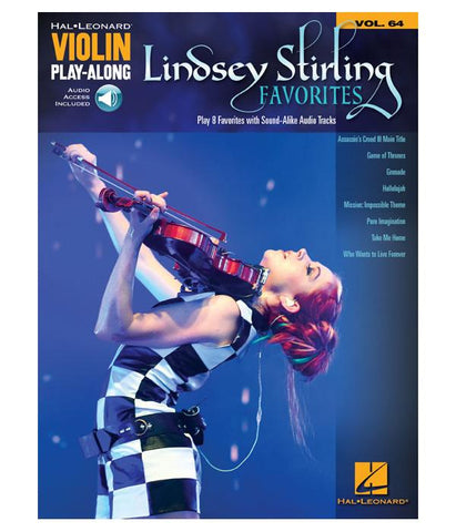 Lindsey Stirling Favorites: Violin Play-Along Volume 64 Music Book