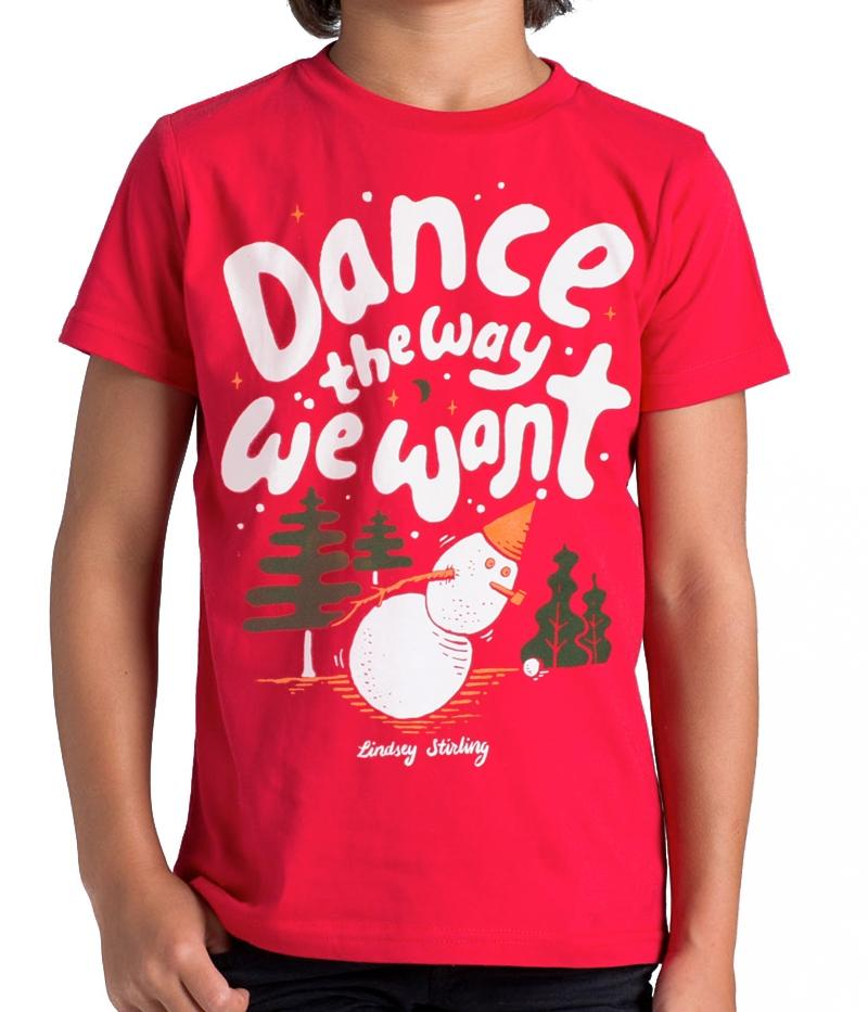 Lindsey Stirling Snowman Youth Shirt
