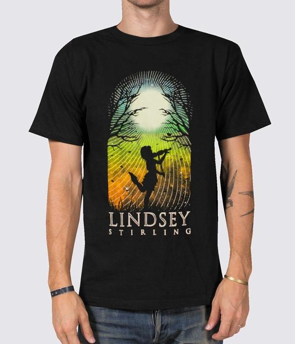 Lindsey Stirling Silhouette 2015 Tour Shirt