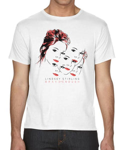 Lindsey Stirling Faces Shirt (White)
