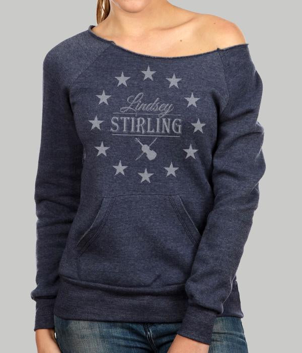 Lindsey Stirling Circle Stars Womens Crewneck Sweatshirt