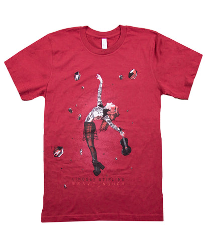 Lindsey Stirling Poster Shirt (Maroon)