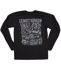 Lindsey Stirling Scribble Long Sleeve Shirt