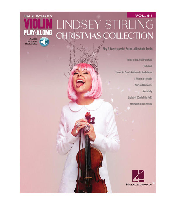 Lindsey Stirling Christmas Collection Music Book (Violin Play-Along Vol.81)