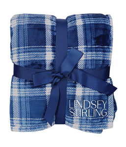 Lindsey Stirling Logo Flannel Plush Pattern Blanket (Blue)