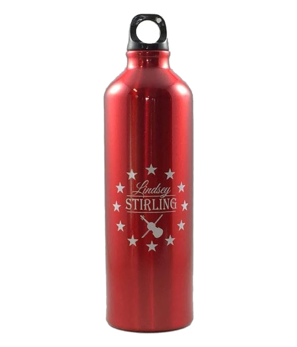 Lindsey Stirling Logo Water Bottle (Red)