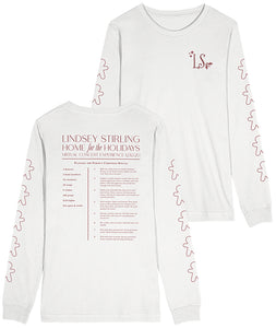 Lindsey Stirling Home For The Holidays Recipe Longsleeve Shirt (White)