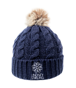 Lindsey Stirling Snowflake Pom Beanie