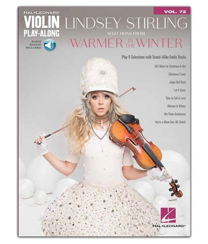 Lindsey Stirling Warmer In The Winter Violin Play-Along Book