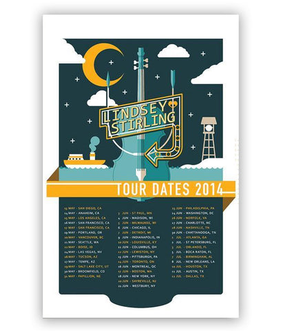 Lindsey Stirling 2014 Tour Poster