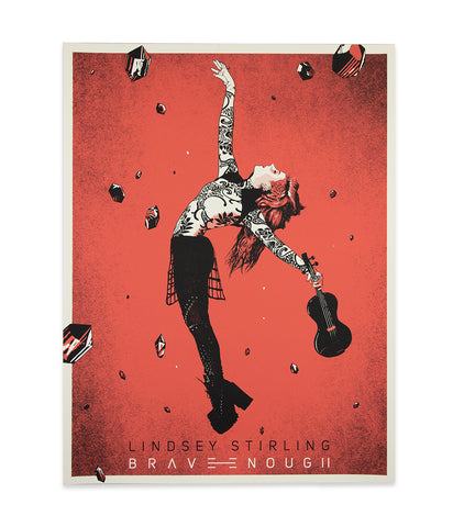 Lindsey Stirling Brave Enough Silkscreened Poster